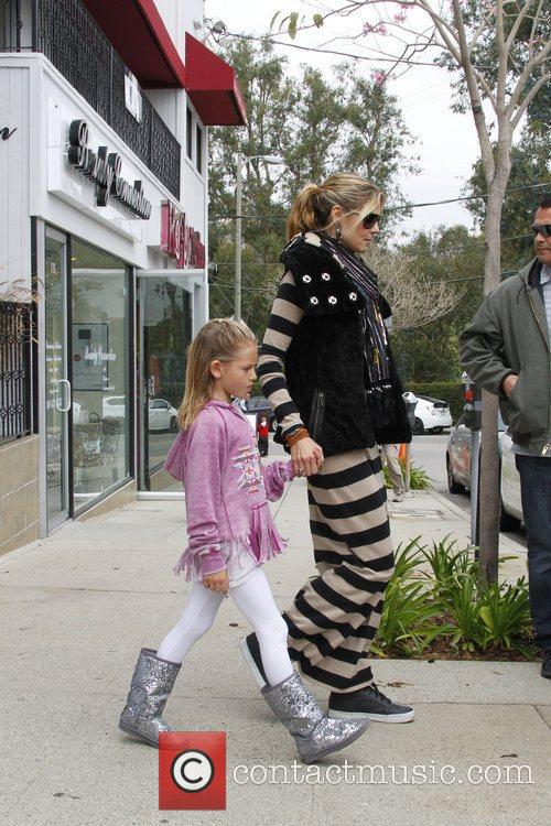 Heidi Klum, Leni Samuel are seen leaving karate...