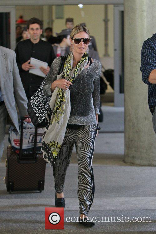 Heidi Klum  seen LAX Airport after spending...