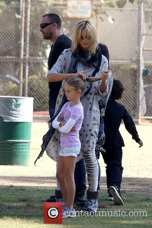 Heidi Klum goes to her son's soccer game...