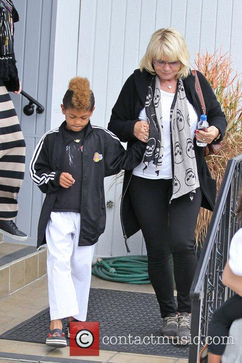 Erna Klum and Henry Samuel are seen leaving...