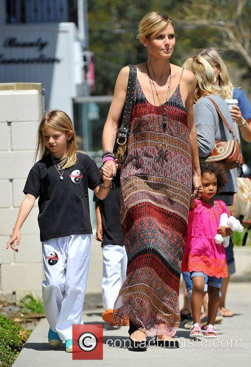 Heidi Klum out and about in Brentwood with...