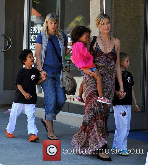 heidi klum out and about in brentwood 3843658