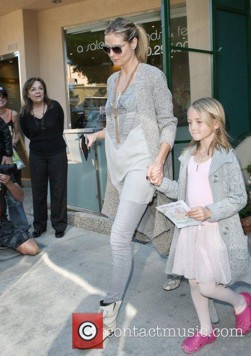 Heidi Klum and her daughter Leni Samuel are...