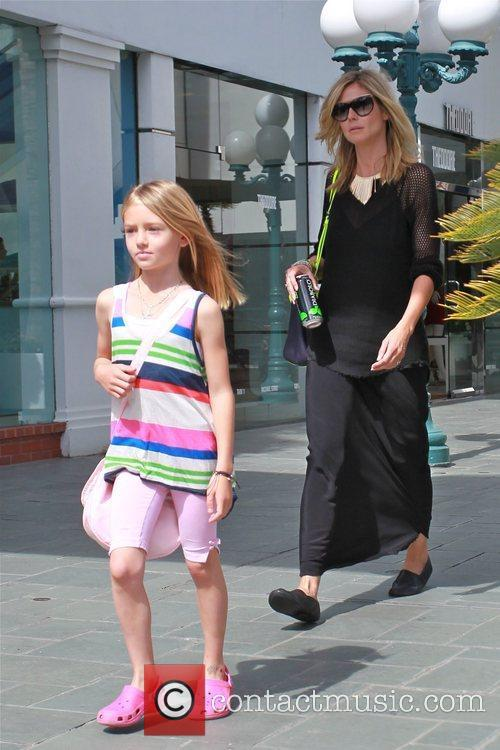 Heidi Klum and Leni Samuel are seen heading...