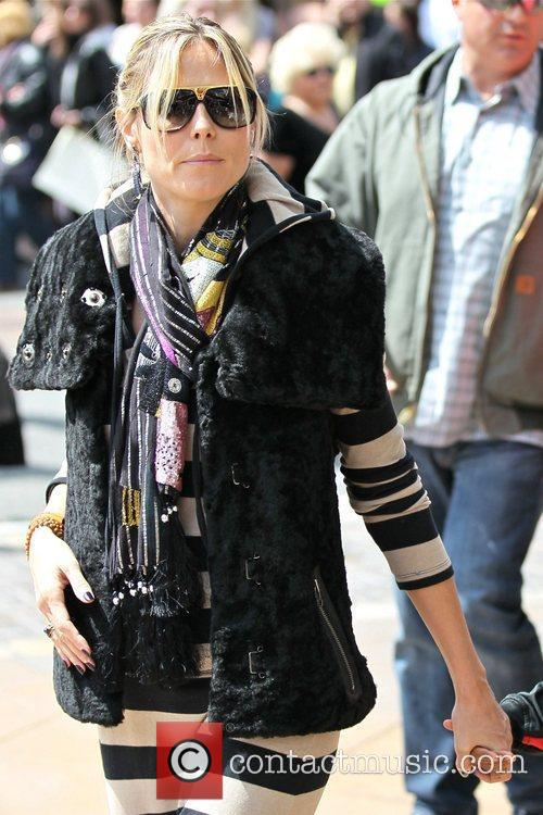 heidi klum spends the day at the 5815434