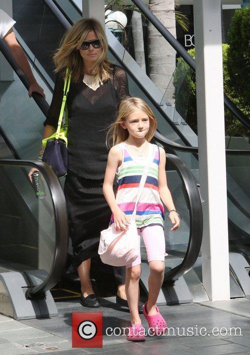 Heidi Klum and her daughter Leni Samuel leaving...