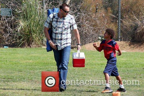 Leaving Henry's soccer game in Brentwood