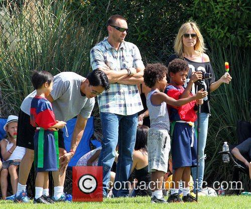 Heidi Klum with her sons and Martin Kristen...