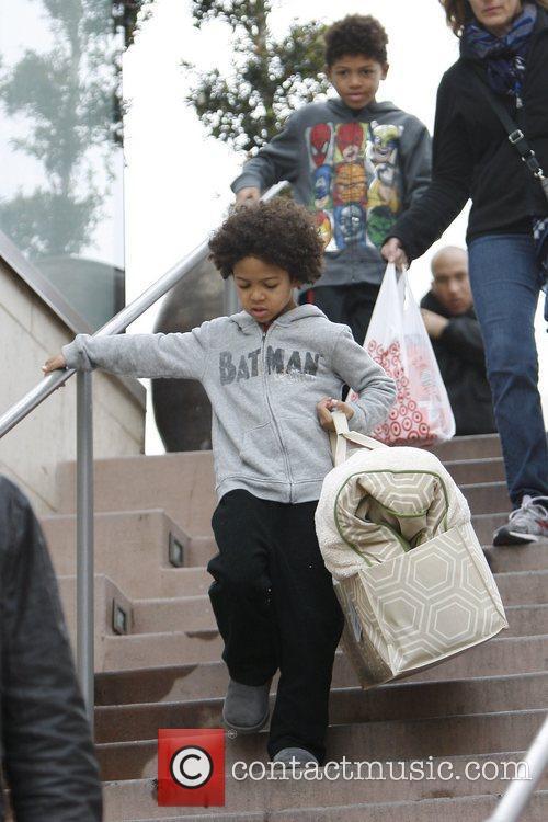 Johan Samuel, Henry Samuel leaving Target with shopping...