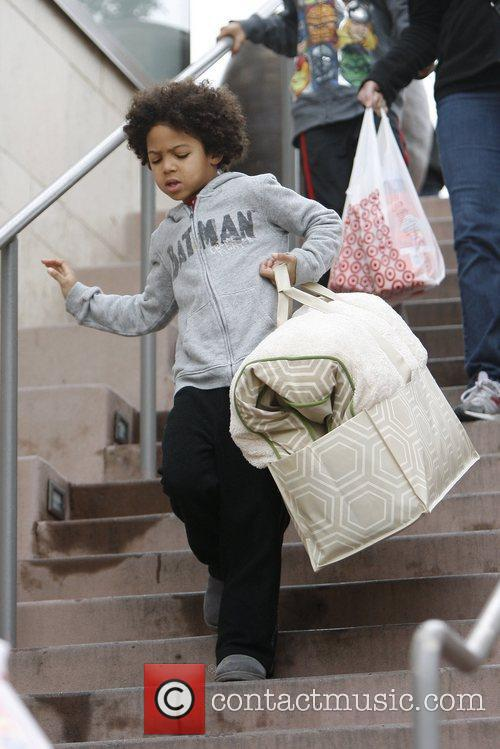 Johan Samuel leaving Target with his hands full...