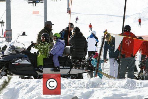On the ski slopes at Aspen, where their...