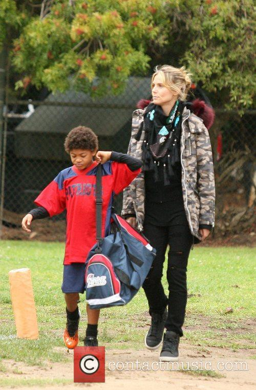 Heidi Klum and Henry 5