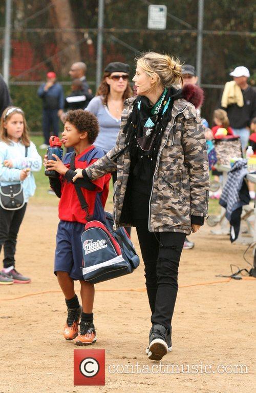 Heidi Klum and Henry 3