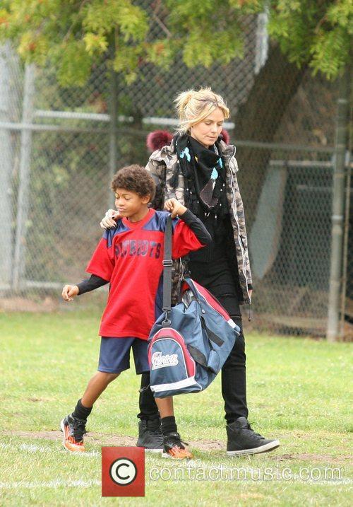 Heidi Klum and Henry 10