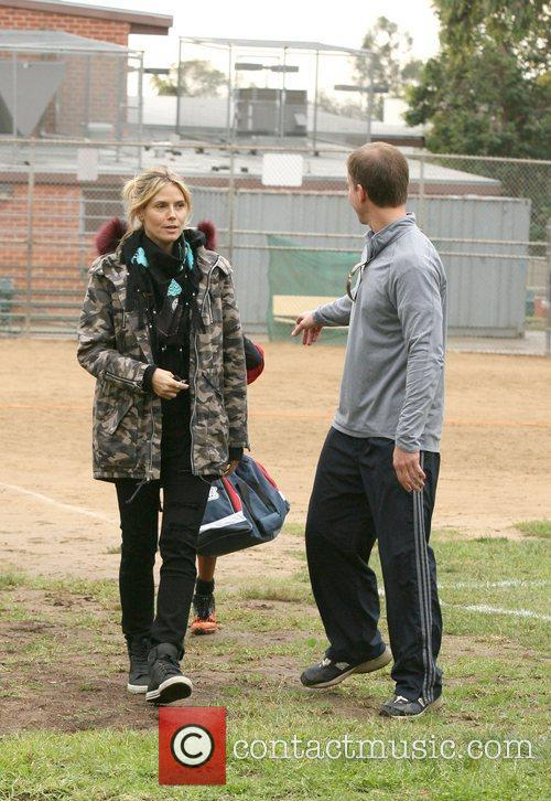Heidi Klum at her sons football game in...