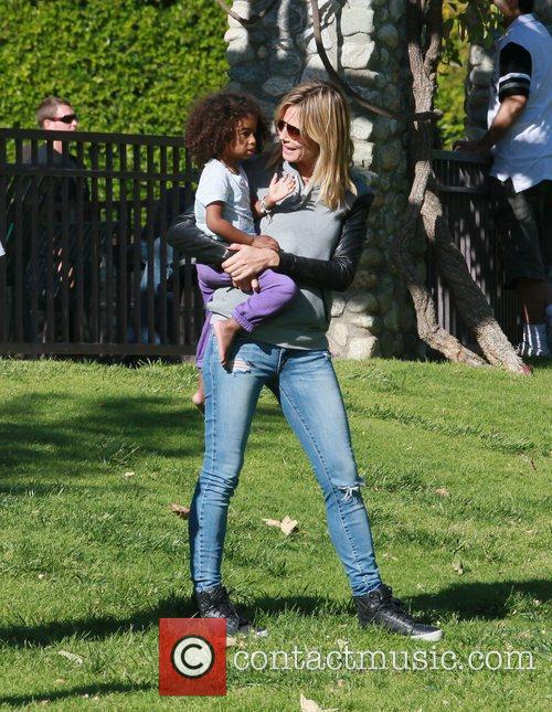 heidi klum with daughter lou sulola samuel 3829376