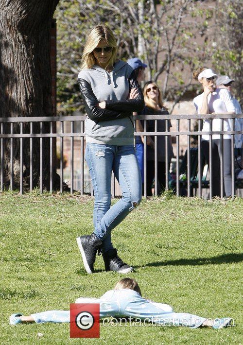 Heidi Klum and daughter Leni Klum  on...