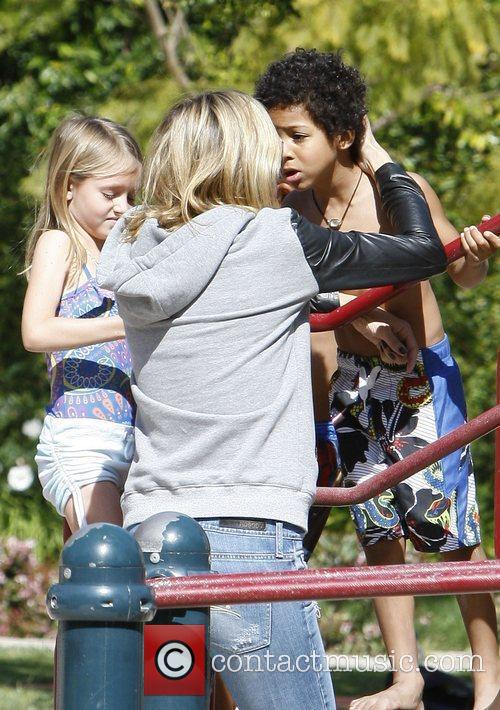 Heidi Klum with daughter Leni Klum and son...