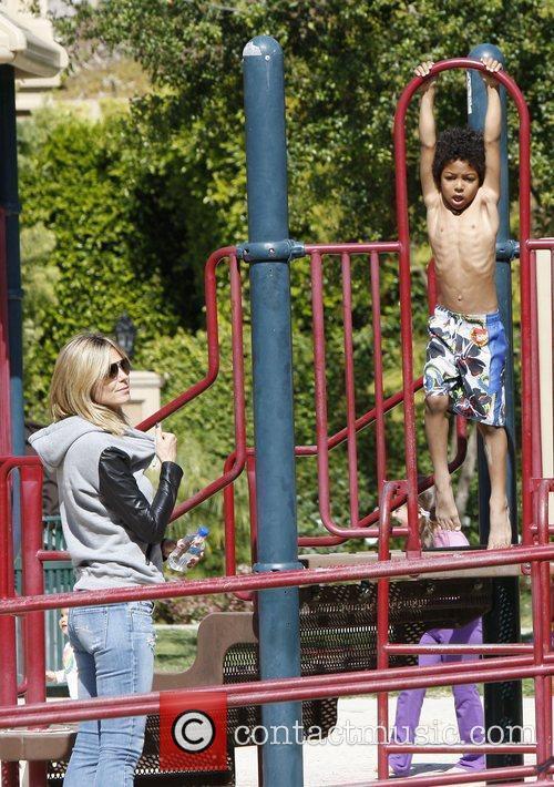 Heidi Klum with son Johan Samuel  on...