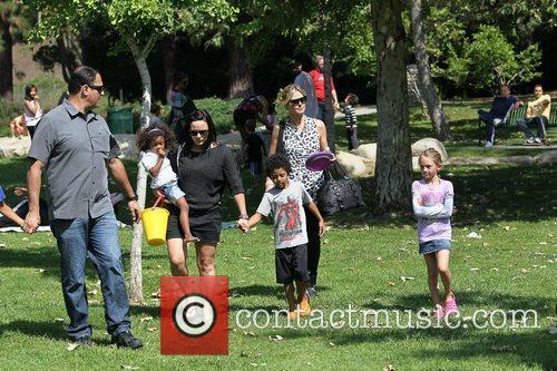 Heidi Klum and her children enjoy a family...