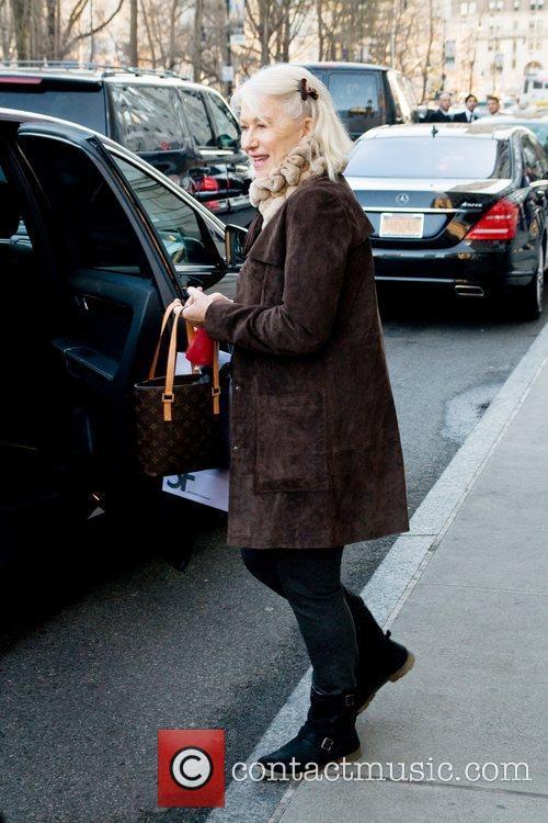 Helen Mirren leaving her Manhattan Hotel