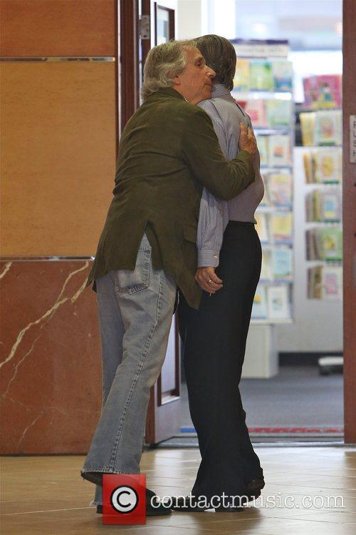 Henry Winkler saying goodbye to a friend after...