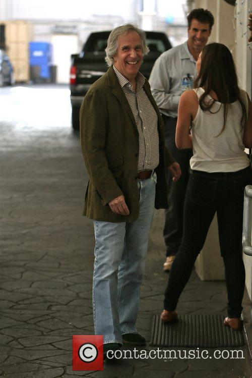 Henry Winkler waiting to pick up his car...
