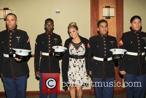 Cassie Scerbo with the US Marine Corp...