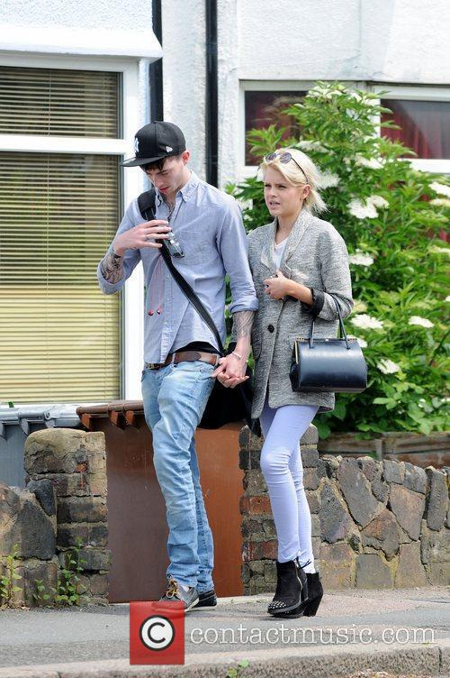 Hetti Bywater and boyfriend out and about in...