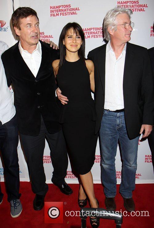 Alec Baldwin, Hilaria Thomas and Richard Gere 2