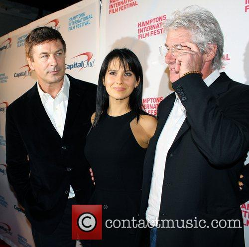Alec Baldwin, Hilaria Thomas and Richard Gere 3