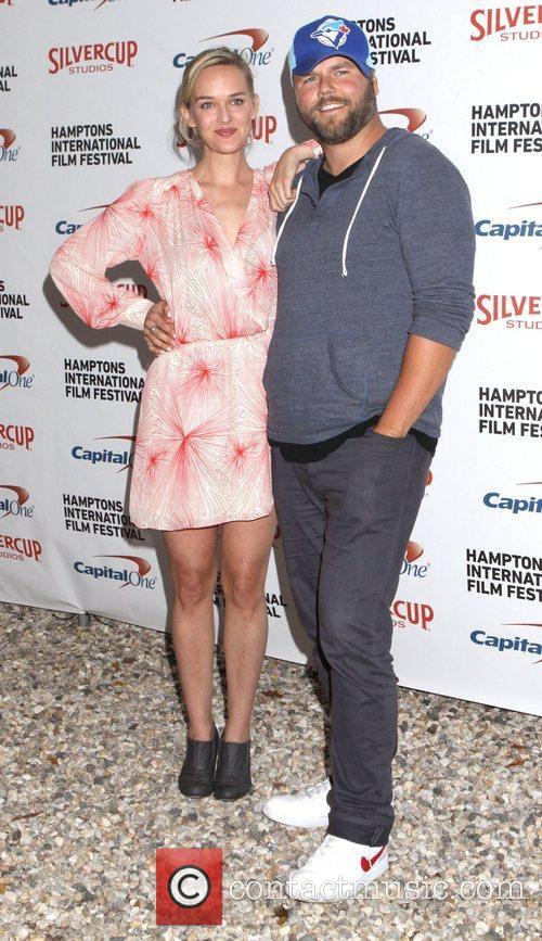 Jess Weixler and Tyler Labine  20th Hamptons...