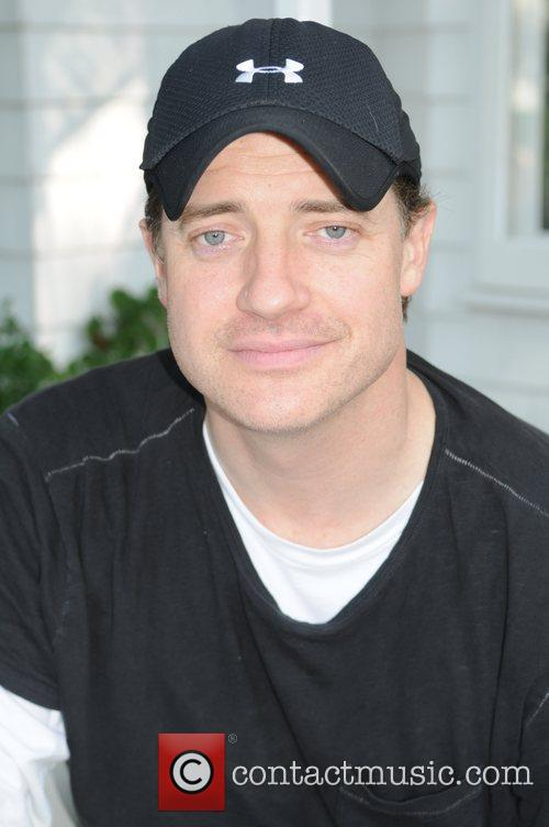 Actor Brendan Fraser attends an interview session at...