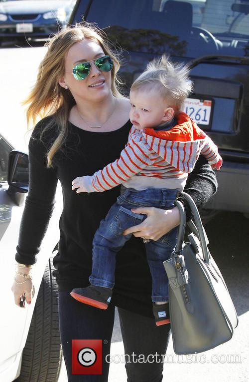 Hilary Duff takes her son Luca Cruz Comrie...