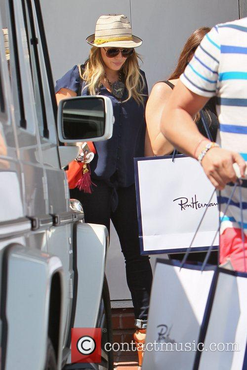 Hilary Duff  seen leaving Fred Segal after...