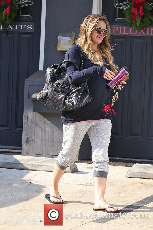 hilary duff seen leaving pilates in toulca 3658732