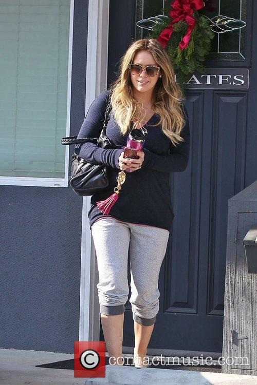 Hilary Duff seen leaving Pilates in Toulca Lakes...