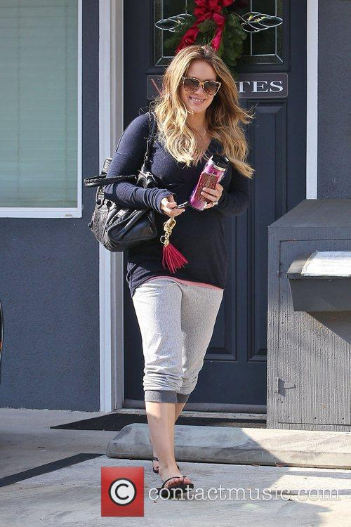 hilary duff seen leaving pilates in toulca 3658734