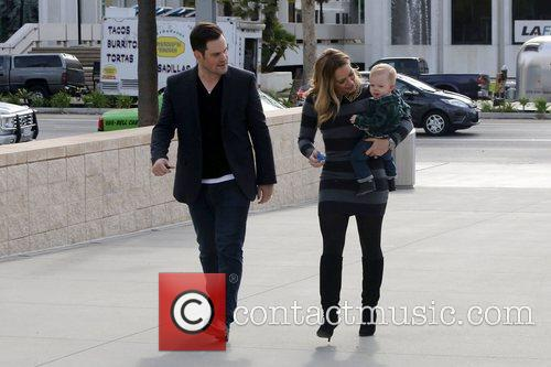 Mike Comrie, Hilary Duff and Luca Cruz Comrie 16