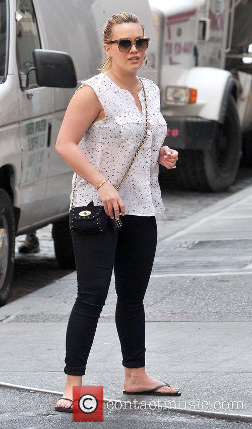 Hilary Duff enjoying the sunshine as she takes...