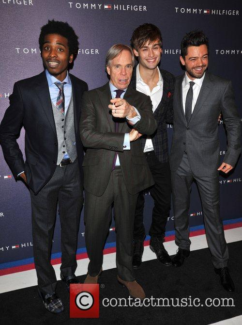 Douglas Booth, Dominic Cooper and Tommy Hilfiger 1