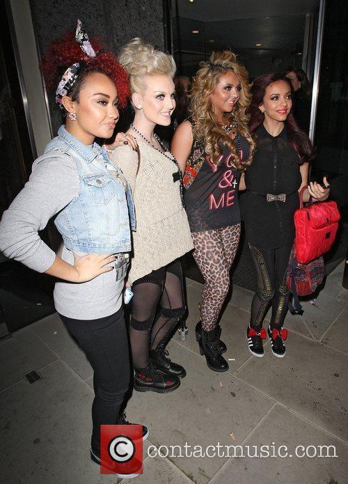 Left to Right: Leigh-Anne Pinnock, Perrie Edwards, Jesy...