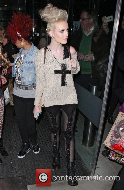 Perrie Edwards of Little Mix leaving the London...
