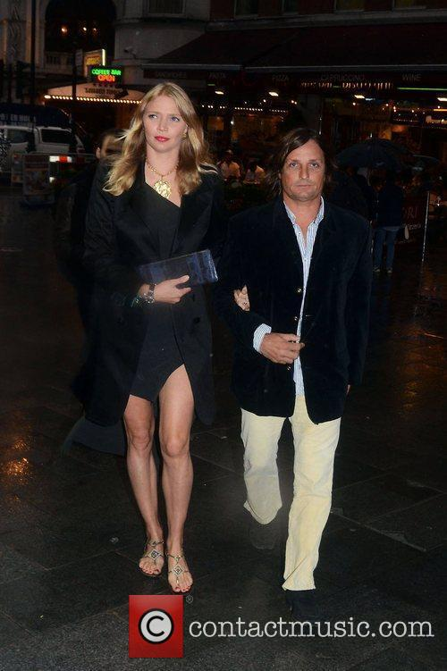 Andrea Vianini; Jodie Kidd  at the Hippodrome...