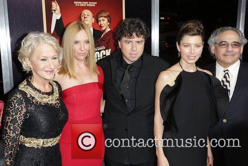 L-r, Dame Helen Mirren, Toni Collette, Sacha Gervasi and Jessica Biel 8