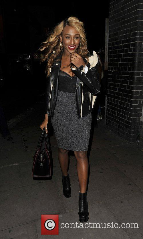 Alexandra Burke at The Forum for Rihanna's performance...