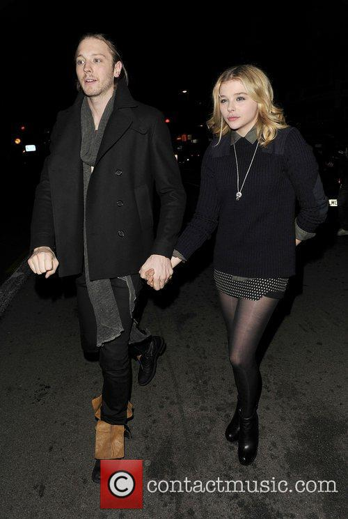 Chloe Moretz and her brother at The Forum...