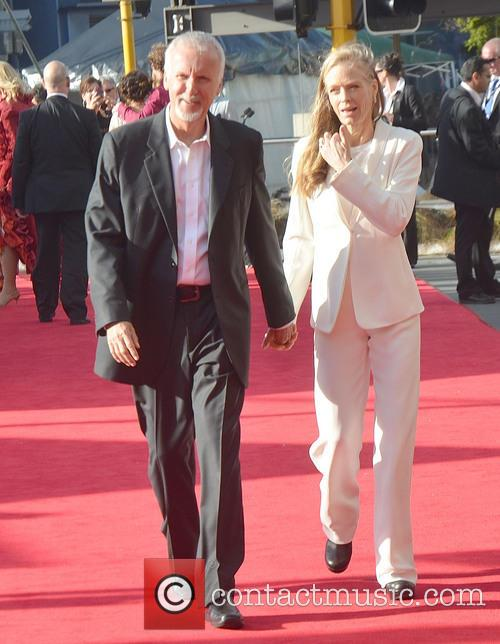 James Cameron, Suzy Amis, Hobbit Premiere, Embassy, Wellington, New Zealand