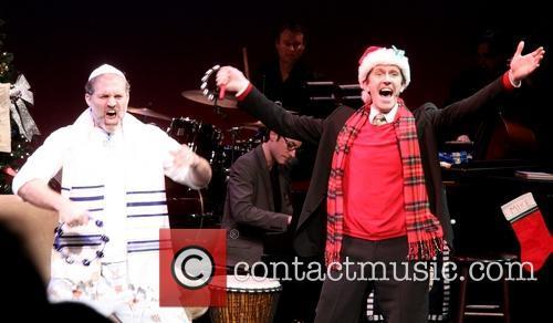 Marc Kudisch; Jeffry Denman The opening night curtain...