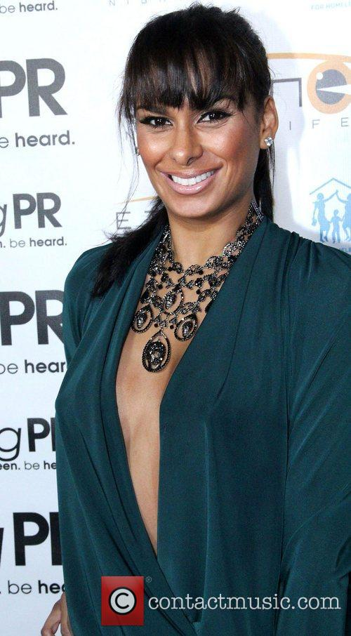 Laura Govan arrives at the Holiday Toy Drive...